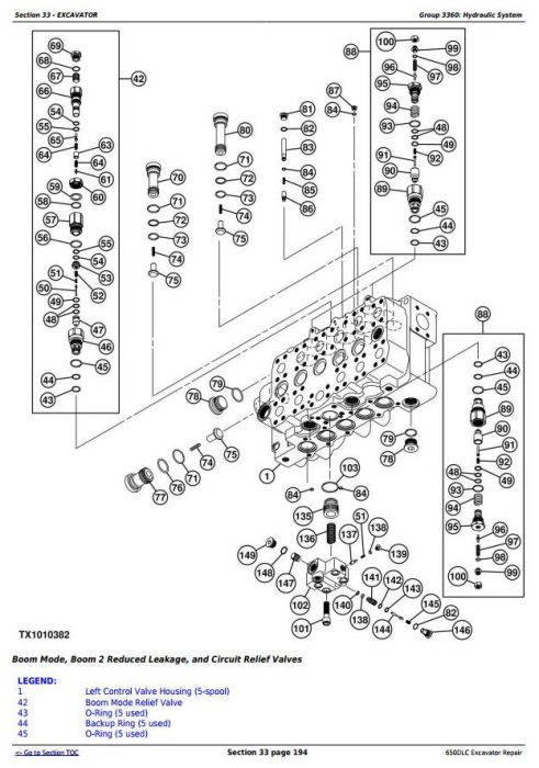 Fourth Additional product image for - John Deere 650DLC Excavator Service Repair Technical Manual (TM10010)