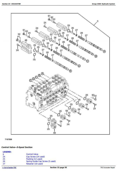 Third Additional product image for - John Deere 75C RTS Excavator Service Repair Technical Manual (tm2358)