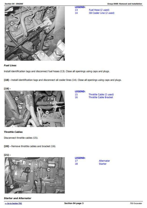 Second Additional product image for - John Deere 75D Excavator Service Repair Technical Manual (TM10749)
