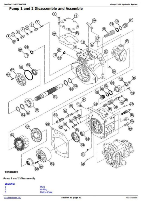 Fourth Additional product image for - John Deere 75D Excavator Service Repair Technical Manual (TM10749)