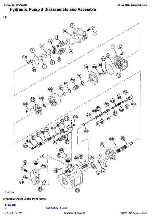 Fourth Additional product image for - John Deere 80C Excavator Service Repair Technical Manual (TM1939)