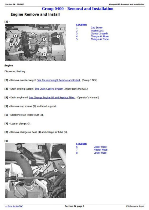 Second Additional product image for - John Deere 85D Excavator Service Repair Technical Manual (TM10755)