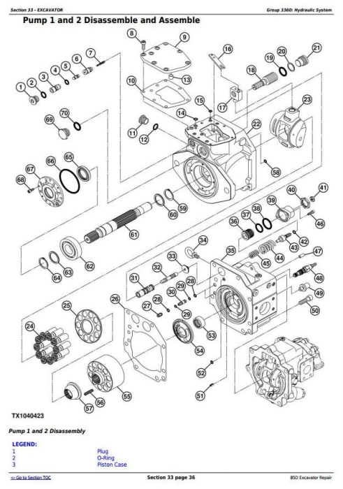 Fourth Additional product image for - John Deere 85D Excavator Service Repair Technical Manual (TM10755)