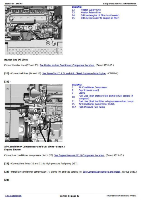 Second Additional product image for - John Deere E240, E240LC and E260LC (T3/S3A) Excavator Service Repair Technical Manual (TM12738)