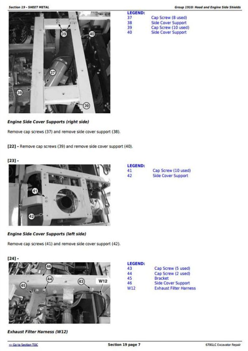 Third Additional product image for - John Deere 670GLC Excavator with Engine 6WG1XZSA-02 Service Repair Technical Manual (TM12181)