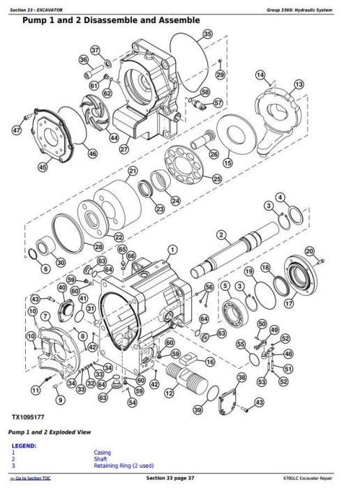 Fourth Additional product image for - John Deere 670GLC Excavator with Engine 6WG1XZSA-02 Service Repair Technical Manual (TM12181)