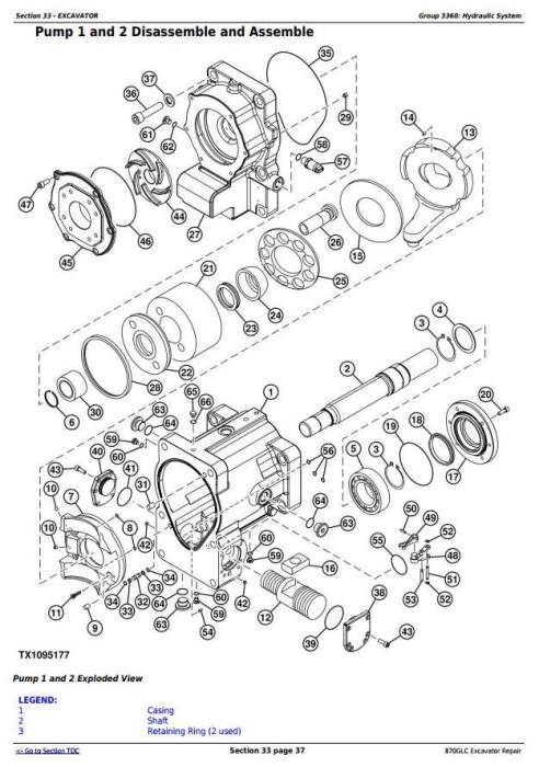 Third Additional product image for - John Deere 870GLC Excavator with 6WG1XZSA-02 Engine Service Repair Technical Manual (TM12182)