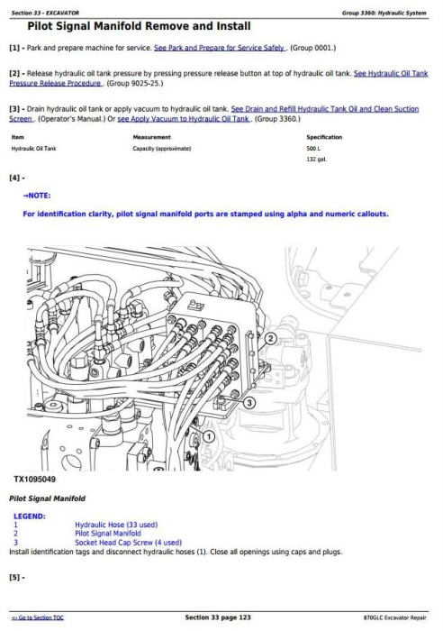 Fourth Additional product image for - John Deere 870GLC Excavator with 6WG1XZSA-02 Engine Service Repair Technical Manual (TM12182)