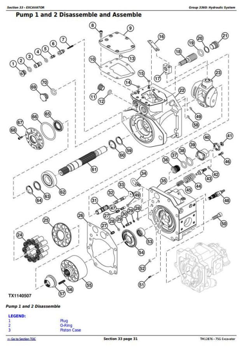 Second Additional product image for - John Deere 75G (FT4) Compact Excavator Service Repair Technical Manual (TM12876)
