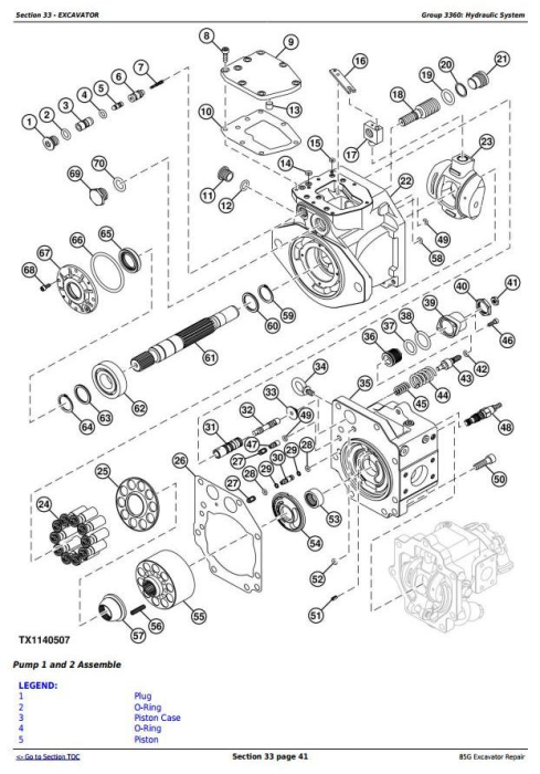 Third Additional product image for - John Deere 85G (FT4) Excavator Service Repair Technical Manual (TM12870)