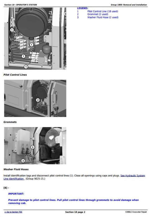 Second Additional product image for - John Deere E300LC (T2/S2) Excavator Service Repair Technical Manual (TM13105X19)