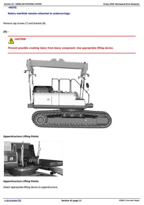 Fourth Additional product image for - John Deere E300LC (T2/S2) Excavator Service Repair Technical Manual (TM13105X19)