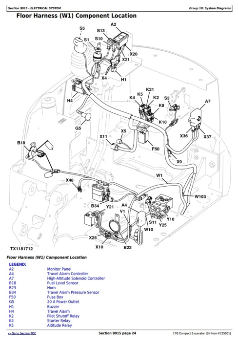 Second Additional product image for - John Deere 17G (SN.from K225001) Compact Excavator Diagnistic and Test Service Manual (TM13325X19)