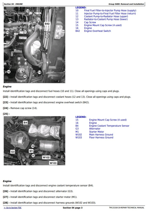 Third Additional product image for - John Deere 17G (SN. from 225001) Compact Excavator Service Repair Technical Manual (TM13326X19)