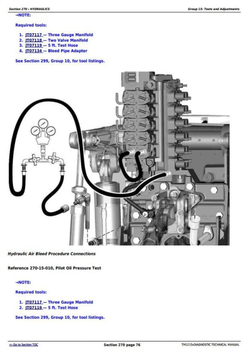Fourth Additional product image for - John Deere 8230T, 8330T & 8430T Tracks Tractors Diagnosis and Tests Service Manual (TM2215)
