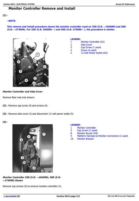 Third Additional product image for - John Deere 35D and 50D Compact Excavator Diagnostic, Operation and Test Service Manual (TM2263)