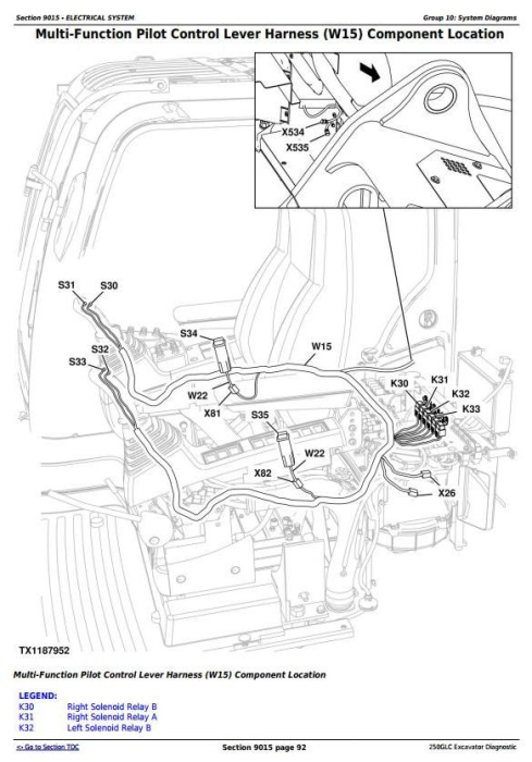 Second Additional product image for - John Deere 250GLC (T2/S2) Excavator Diagnostic, Operation and Test Service Manual (TM13078X19)