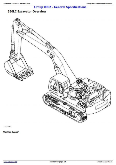 Fourth Additional product image for - John Deere 550LC Excavator Service Repair Technical Manual (tm1808)