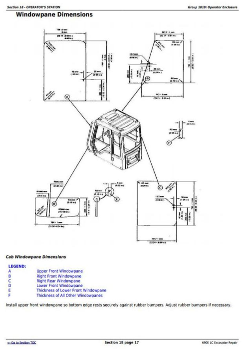 Third Additional product image for - John Deere 690E LC Excavator Service Repair Technical Manual (tm1509)