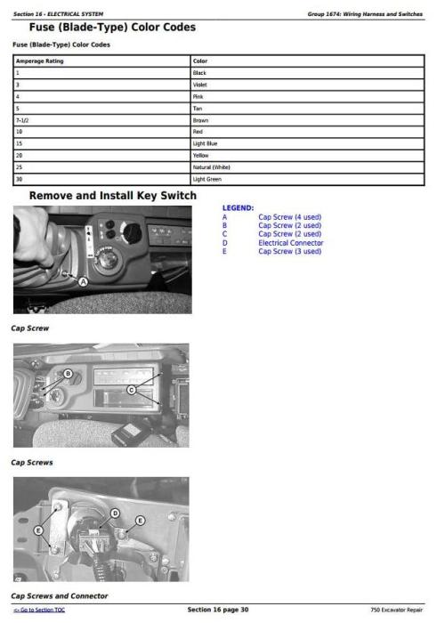 Third Additional product image for - John Deere 750 Excavator Service Repair Technical Manual (tm1810)