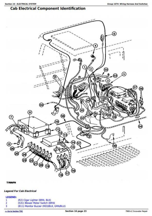 Second Additional product image for - John Deere 790E-LC Excavator Service Repair Technical Manual (tm1507)