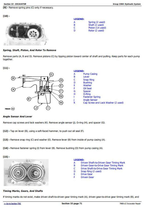 Fourth Additional product image for - John Deere 790E-LC Excavator Service Repair Technical Manual (tm1507)