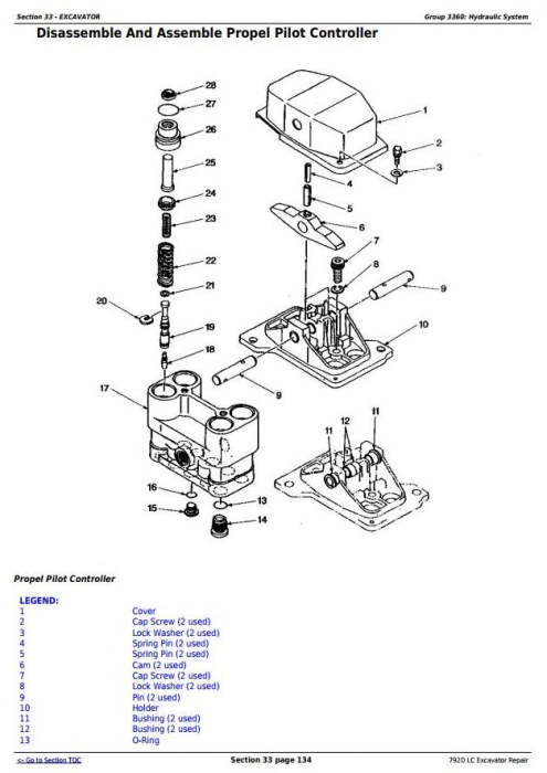 Second Additional product image for - John Deere 792D LC Excavator Service Repair Technical Manual (tm1596)