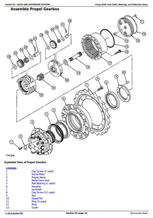 Second Additional product image for - John Deere 80 Midi Excavator Service Repair Technical Manual (tm1656)