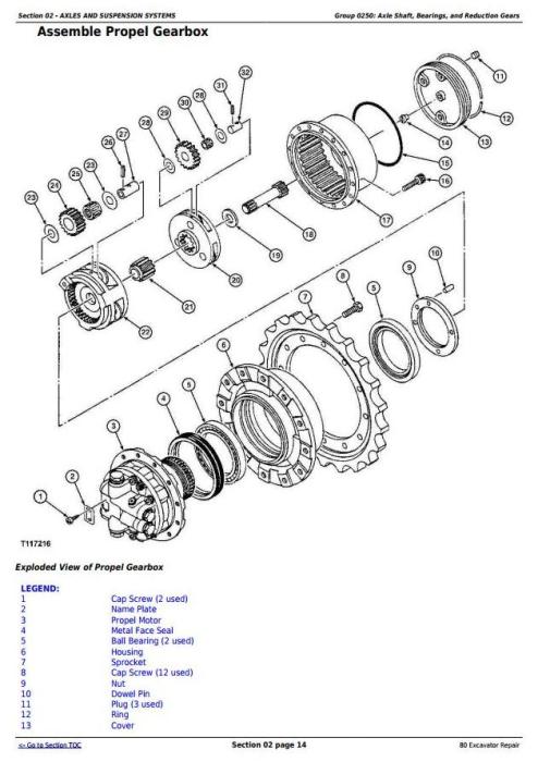 Second Additional product image for - John Deere 80 Midi Excavator Service Repair Technical Manual (tm1656)