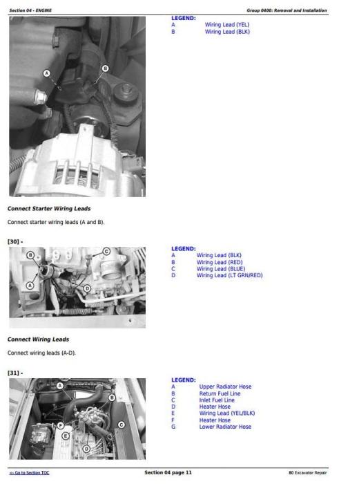 Third Additional product image for - John Deere 80 Midi Excavator Service Repair Technical Manual (tm1656)