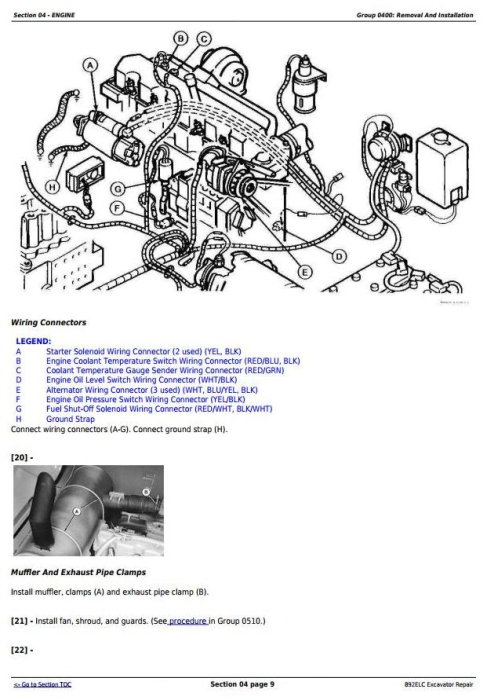Second Additional product image for - John Deere 892ELC Excavator Service Repair Technical Manual (tm1542)