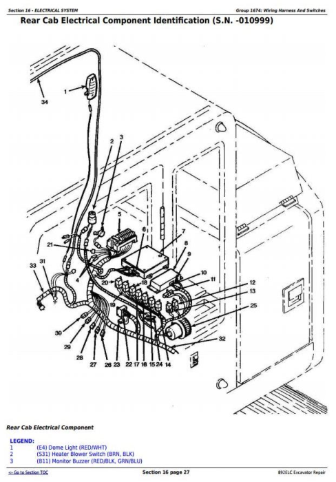 Third Additional product image for - John Deere 892ELC Excavator Service Repair Technical Manual (tm1542)