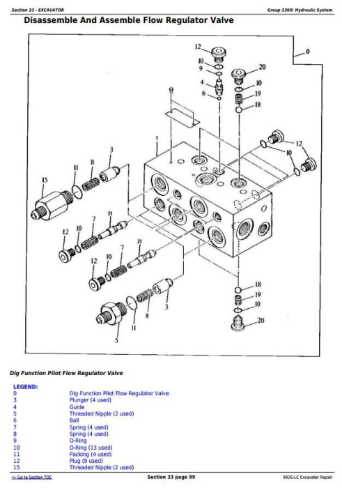 Second Additional product image for - John Deere 992E-LC Excavator Service Repair Technical Manual (tm1560)