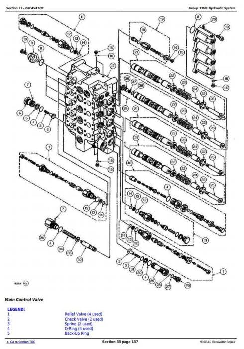 Third Additional product image for - John Deere 992E-LC Excavator Service Repair Technical Manual (tm1560)