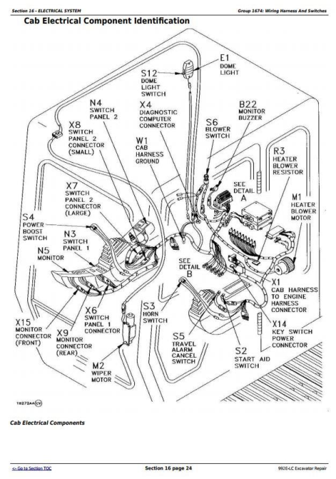 Fourth Additional product image for - John Deere 992E-LC Excavator Service Repair Technical Manual (tm1560)