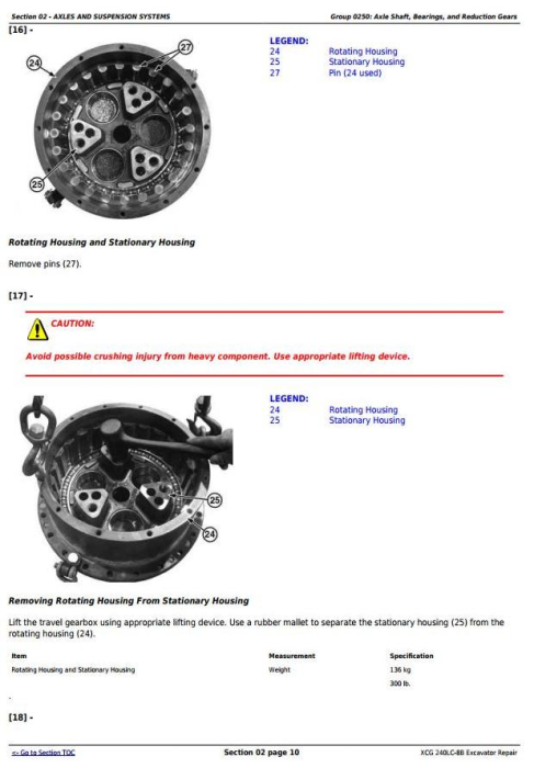 Fourth Additional product image for - XCG 240LC-8B Excavator Diagnostic, Operation and Test Service Manual (TM11478)