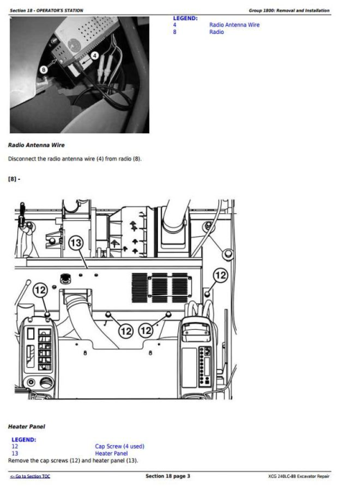 Third Additional product image for - XCG 240LC-8B Excavator Service Repair Technical  Manual (TM11479)