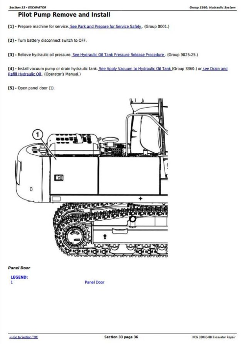 Fourth Additional product image for - XCG 330LC-8B Excavator Service Repair Technical Manual (TM11586)