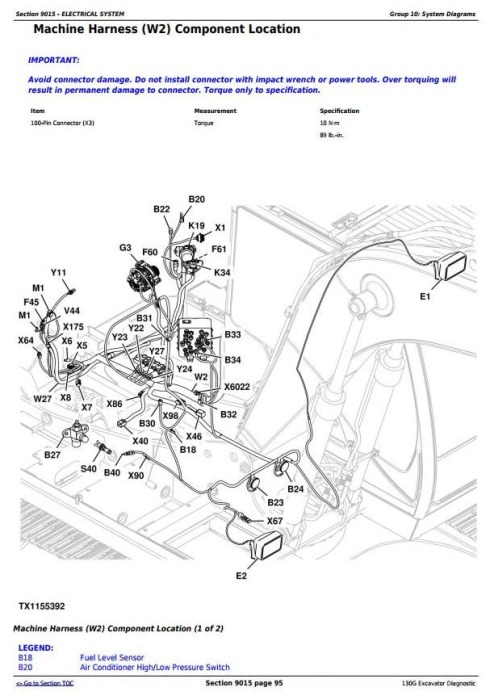 Third Additional product image for - John Deere 130G (T3/S3a) Excavator (S.N. 1FF130GX_D040001) Operation & Test Service Manual (TM12554)