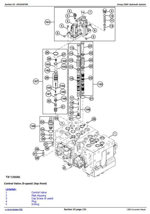 Third Additional product image for - John Deere 130G (T3/S3a) Excavator (S.N. 1FF130GX_D040001 -) Service Repair Manual (TM12557)