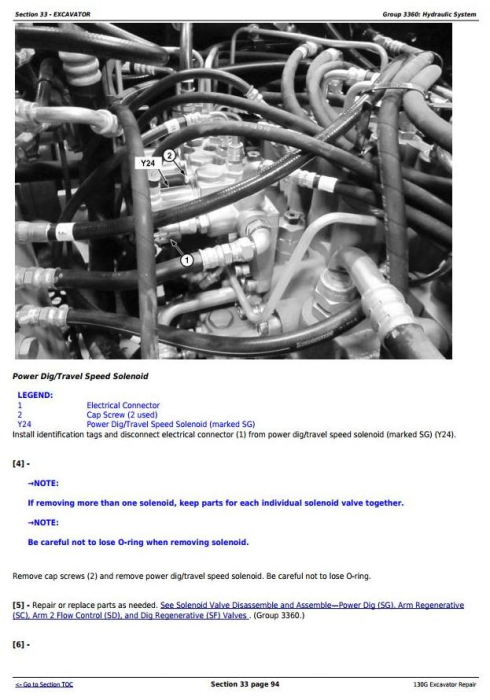 Fourth Additional product image for - John Deere 130G (T3/S3a) Excavator (S.N. 1FF130GX_D040001 -) Service Repair Manual (TM12557)