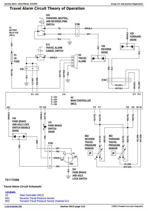 Second Additional product image for - John Deere 230GW Wheeled Excavator Diagnostic, Operation and Test Service Manual (TM13249X19)