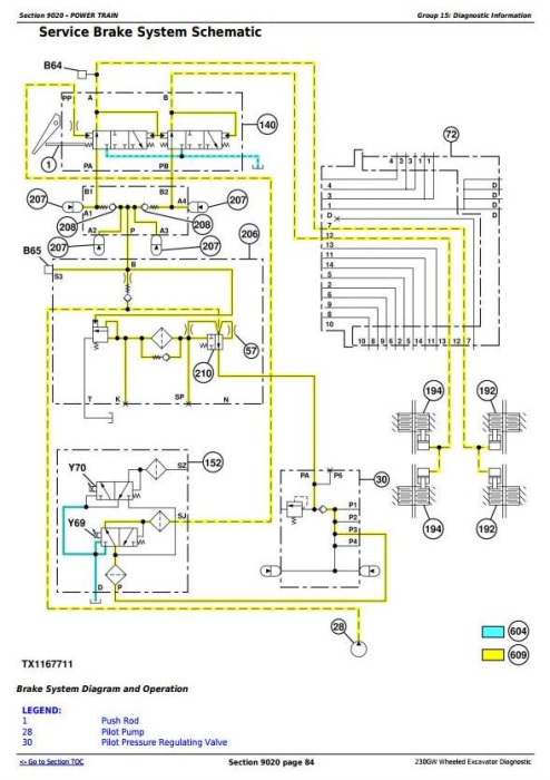 Third Additional product image for - John Deere 230GW Wheeled Excavator Diagnostic, Operation and Test Service Manual (TM13249X19)