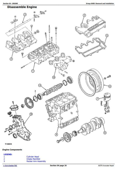Third Additional product image for - John Deere 35ZTS Compact Excavator Service Repair Technical Manual (TM1839)