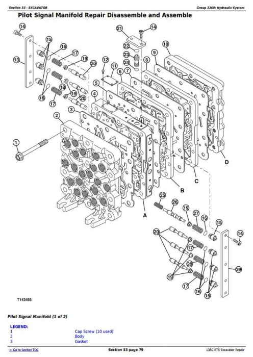 Fourth Additional product image for - John Deere 135C RTS RTS Excavator Service Repair Manual (TM2094)