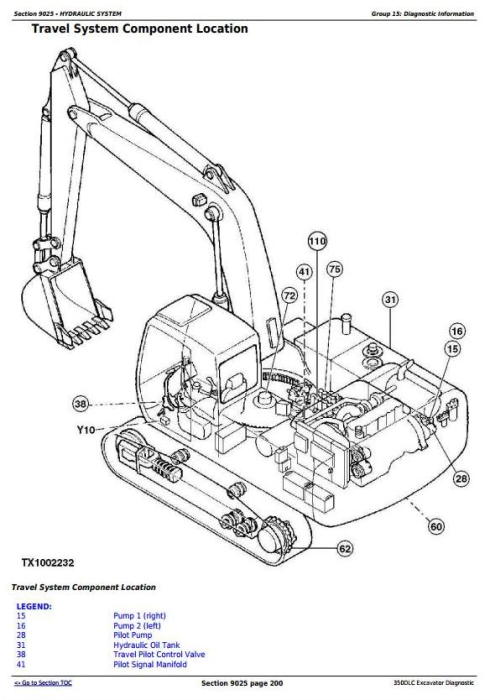 First Additional product image for - John Deere 350DLC Excavator Diagnostic Operation and Test Service Manual (TM2359)