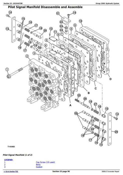 Fourth Additional product image for - John Deere 350GLC Excavator Service Repair Technical Manual (TM13197X19)