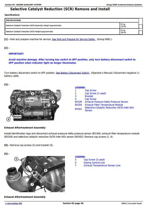 Third Additional product image for - John Deere 350GLC (PIN: 1FF350GX__F809192-) Excavator Service Repair Technical Manual (TM13207X19)