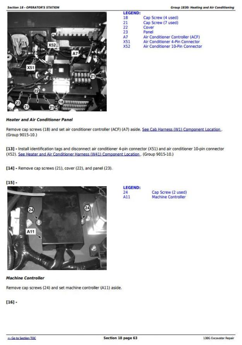 Second Additional product image for - John Deere 130G (S.N: 1FF130GX_F040608) Excavator Service Repair Manual (TM13348X19)
