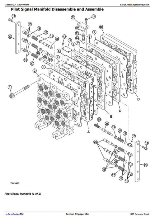 Fourth Additional product image for - John Deere 130G (S.N: 1FF130GX_F040608) Excavator Service Repair Manual (TM13348X19)
